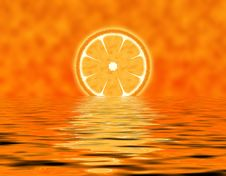 Free Abstract Slice Orange Royalty Free Stock Photo - 14074915