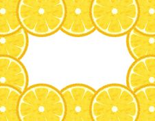 Free Slice Lemon Border Stock Photography - 14074922