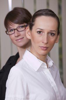 Free Two Happy Businesswomen Royalty Free Stock Photo - 14074955