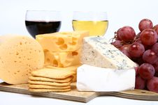 Various Types Of Cheese Royalty Free Stock Photos