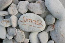 Free Stones On Beach Stock Images - 14075594