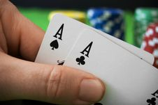 Free Top Pairs Of Aces Stock Photography - 14075862