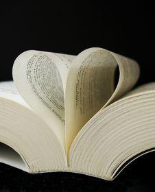 Heart Shaped Book Royalty Free Stock Photo
