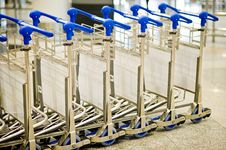 Free Airport Luggage Trolley Stock Images - 14075964