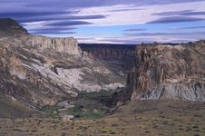 Free Beautiful Landscape Of A Patagonia Canyon. Royalty Free Stock Image - 14076106