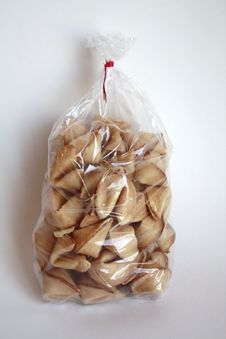 Bag Of Fortune Cookies Stock Images