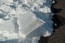 Chunky Snow Line Stock Photo