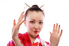 Free Portrait Of Geisha Royalty Free Stock Images - 14077679