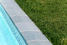 Free Border Between Pool And A Lawn Stock Photos - 14078023