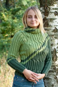 Free Girl In Green Pullover Stock Photo - 14078060