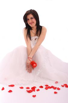 Free Happy Young Bride In Wedding Dress Stock Photo - 14079120