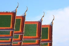 Free Traditional Thai Style On Temple S Roof Royalty Free Stock Photo - 14079215