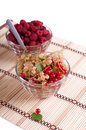 Free Fresh Raspberry And Currant In A Crystal Bowl Stock Photos - 14085553