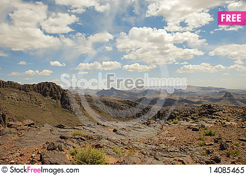 Free Dry Mountain Desert, Morroco Royalty Free Stock Photo - 14085465