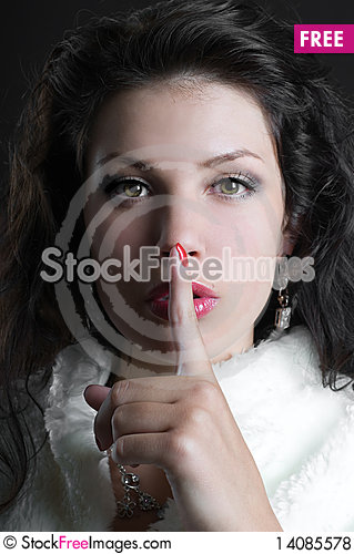 Free Woman Gesturing For Quiet Or Shushing Royalty Free Stock Photos - 14085578