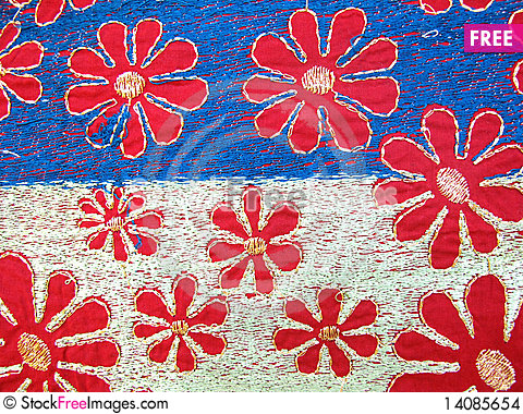 Free Embroidery Fabric Stock Images - 14085654
