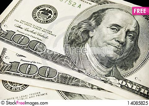 Free Hundreds Dollars Royalty Free Stock Photo - 14085825