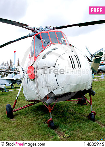 Free Old Helicopter Royalty Free Stock Photo - 14085945