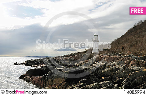 Free Sea Landscape With Lighthouse Stock Images - 14085994