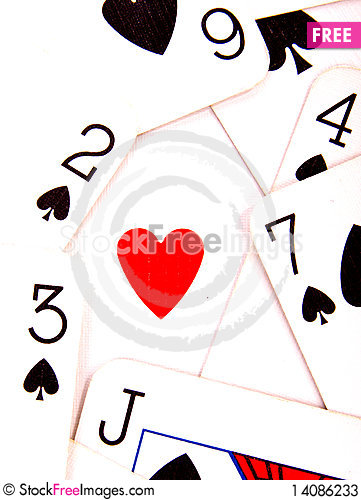 Free Heart And Spades Stock Photos - 14086233