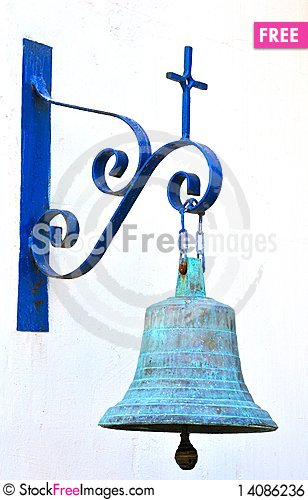 Free The Church Bell On A White Wall Royalty Free Stock Image - 14086236