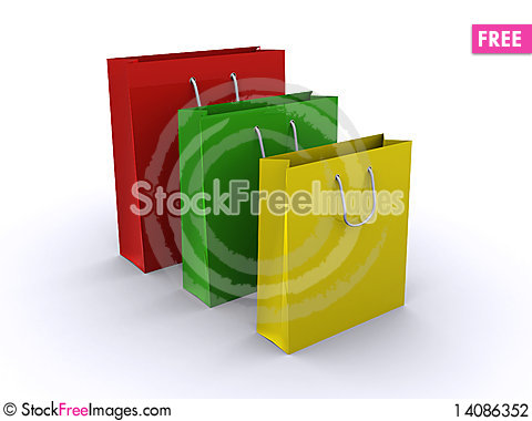 Free Shopping Bags Stock Photography - 14086352