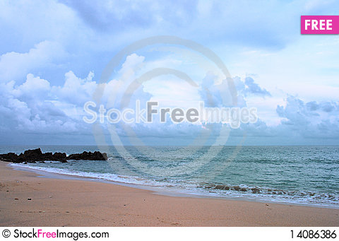 Free The Beach Royalty Free Stock Image - 14086386