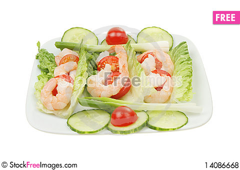 Free Prawn Salad Royalty Free Stock Photos - 14086668