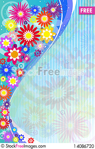 Free Abstract Flowers Stock Photo - 14086720