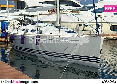 Free Yacht In Harbour Stock Images - 14086964