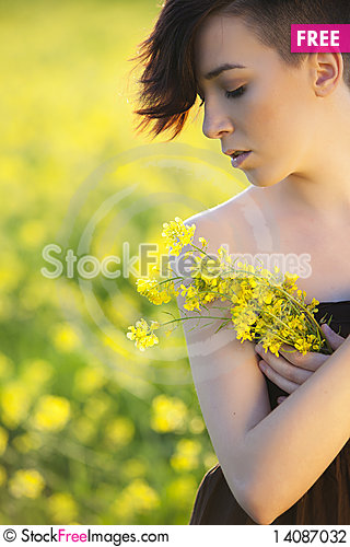 Free Girl Portrait On Nature Stock Photography - 14087032