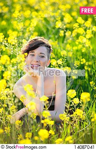 Free Smiling Girl Stock Image - 14087041