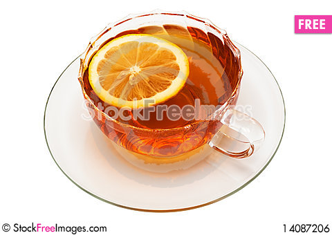 Free Glass Cup With Tea Royalty Free Stock Image - 14087206