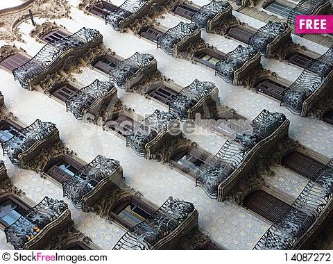 Free Barcellona Balcony Stock Photography - 14087272