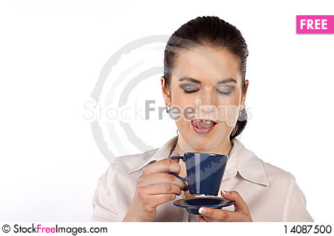 Free Woman With Coffee Cup Stock Photo - 14087500