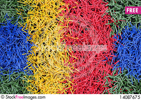 Free Green, Blue, Yellow And Red Artificial Turf Royalty Free Stock Photo - 14087675