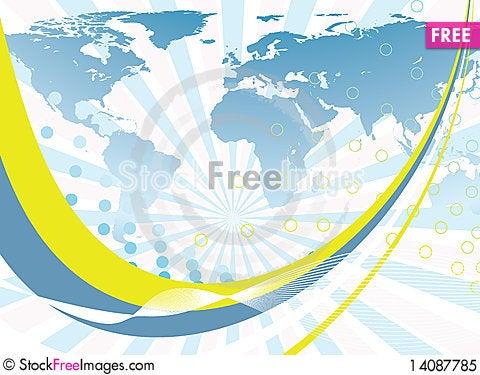 Free Abstract World Globe Design Royalty Free Stock Photo - 14087785