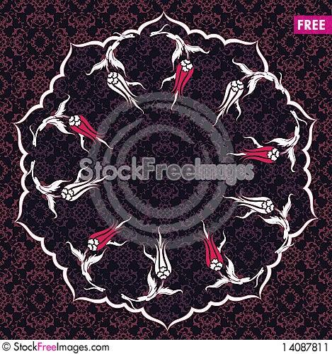 Free Traditional Ottoman Turkish Tile Illustration Stock Image - 14087811