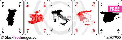 Free Euro Playing Cards Stock Photos - 14087933