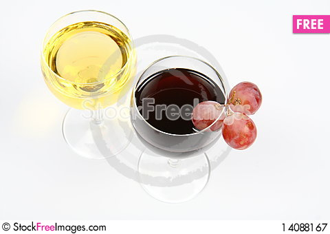 Free Red And White Wine Royalty Free Stock Photography - 14088167