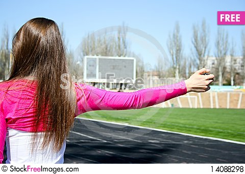 Free Young Woman At The Sport Competition Royalty Free Stock Photos - 14088298