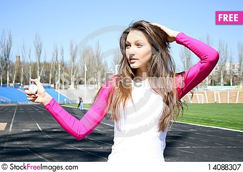 Free Young Woman At The Sport Competition Royalty Free Stock Photography - 14088307