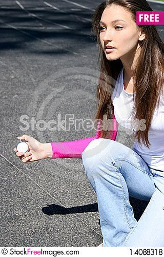 Free Teen Girl At The Sports Competition Royalty Free Stock Photos - 14088318