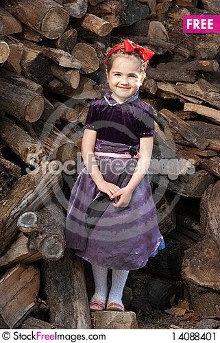 Free Snow White  Litle Girl Stock Image - 14088401