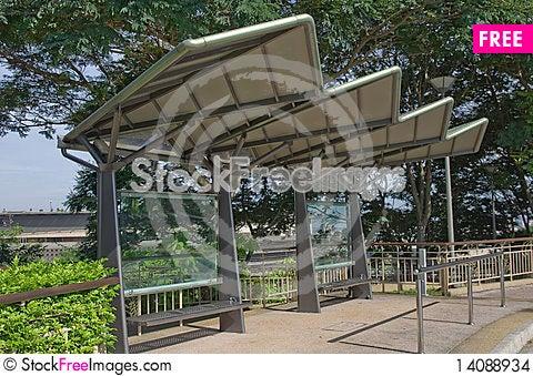 Free Modern Designed Metal Bus Stop Stock Images - 14088934