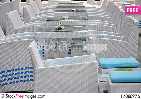 Free White Chairs Royalty Free Stock Image - 14088976