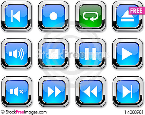Free Player Icons. Stock Image - 14088981