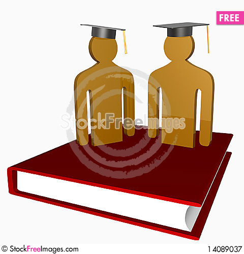 Free Education And Graduation Icon Royalty Free Stock Photography - 14089037