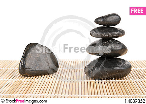 Free Some Stones Lie Pyramid On Mat Stock Photography - 14089352