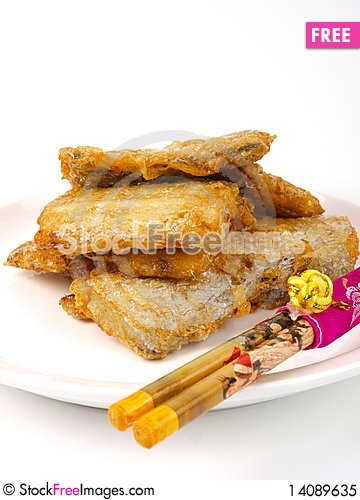 Free Fresh Fried Conger Fish Royalty Free Stock Photo - 14089635